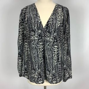 Joie Yinca Printed Silk Blouse